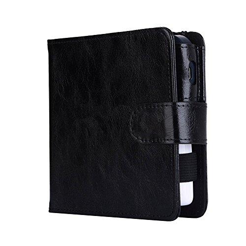 Yeleo Trosetry Zigarettenschachtel Leder E-Zigarette Fall Portable PU Leder Geldbörse mit Clip Haken für Elektrische Zigarettenetui für IQOS Elektronische Zigarette (H02) (Elektronische Fleck)
