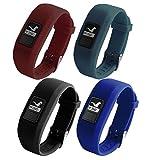 T-BLUER Bracelet de remplacement avec des bandes de sangle de boucle en métal pour Garmin Vivofit 3 et Vivofit JR avec des fermoirs Bracelet de fitness adapté à toutes les tailles (pas de traqueur)