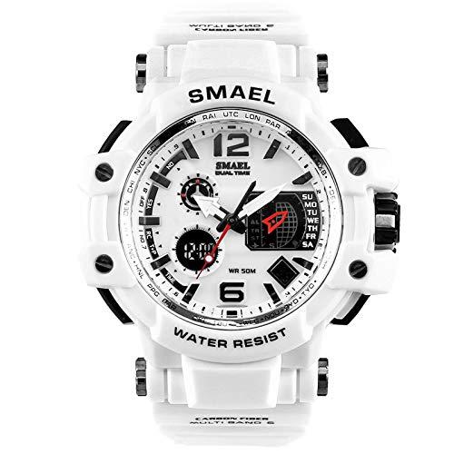 Rosennie Herren Digital Sportuhr Militär Uhr Mode Herrenuhr LED Wasserdicht Armbanduhr Digital Elektronische Sport Armbanduhren Quarz Military Watch für Herren mit Silikon Armband