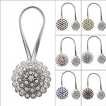 WannaBi - Alzapaños para cortinas con hebillas de clip magnético