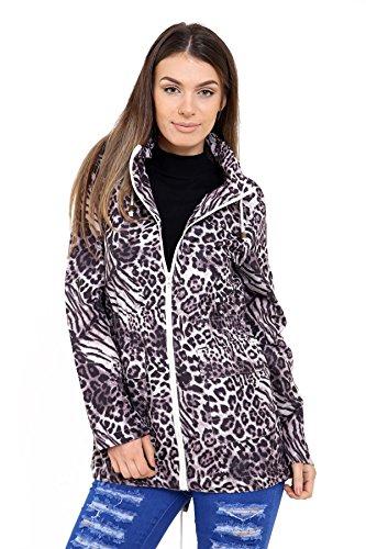 SheLikes Damen Jacke * Einheitsgröße Grey Animal Print