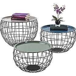 Tables basses La Costa Wire set de 3 Kare Design