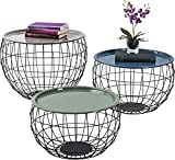 Kare Coffee Table La Costa Wire (3 / Set), 50 x 50 x 37 cm