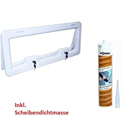 Freizeit Wittke Serviceklappe Crusader Athos 800-800 x 300 mm - Creme inkl. Förch Scheibendichtmasse
