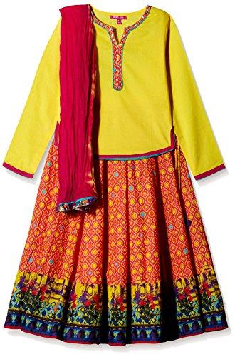 Biba Girls's Lehenga Choli (KW - 1659_Multi-Color_4 - 5 years)