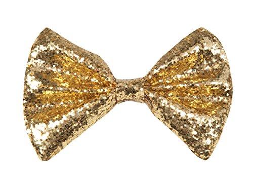 Boland 52900 - Fliege Glitter, Gold (Disco Hemd Glitzer)