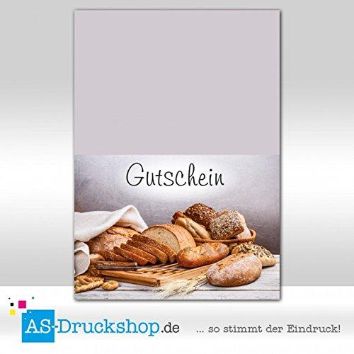 Gutschein Bäckerei Sesamkorn / 50 Stück/DIN A6