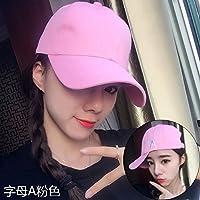 Señoras invierno Gorra Hat viajes Ocio visera tapa todo varón-match sombrero para el sol y la Sra. gorra ajustable,,Alfabeto -1 rosa
