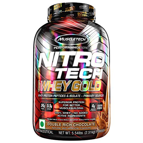 Muscletech Performance Series Nitro Tech 100% Whey Gold Double Rich Chocolate - 2508 gr