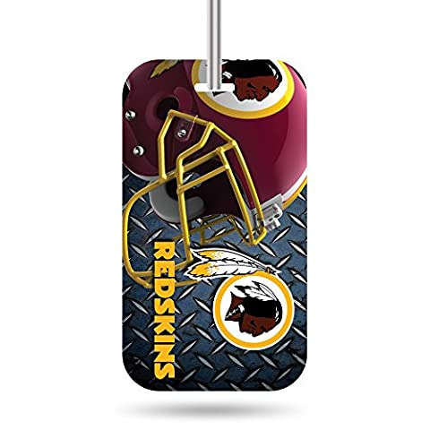 NFL Washington Redskins Crystal View Team Luggage Tag, Steel Blue, 7.5-inches by 3-inches by 0.5-inch