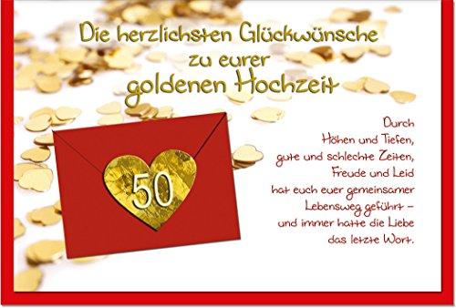 """metALUm Premium Grußkarten\""""Goldene Herzen\"""""""