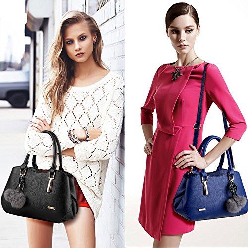 Sac à main femme mode achats sac à bandoulière petit pochette sac porté main Mauve Foncé Noir Sac à Main