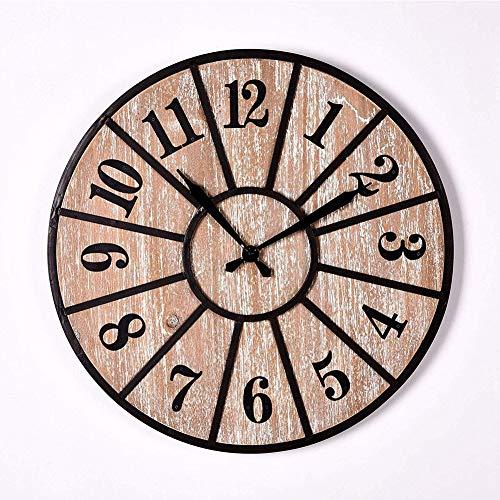 Mdhk orologio da parete in legno grande cucina decorazione orologio custom muro orologio in legno per la decorazione casa semplice tondo artigianato in legno silenzioso orologio da parete