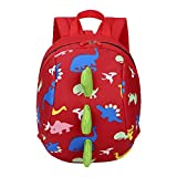YWLINK Kinder Süß Komisch 3D Cartoon Dinosaurier Tierrucksack Baby Kleinkind Schultasche Daypacks Rucksackhandtaschen MäDchen Jungen Rucksack (Rot,20cm(L)/26cm(H)/12cm(W)(7.9'/10.2'/4.7)