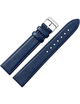 Uhrenarmband 24mm Leder blau, feines echtes Rindleder - inkl. Federstege & Werkzeug - Marburger Uhrband mit sehr...