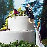 feeilty Bride & Groom La Decorazione della Torta di Nozze, Resina Torta Nuziale Topper Wedding Cake Figura Decorazione della Bambola