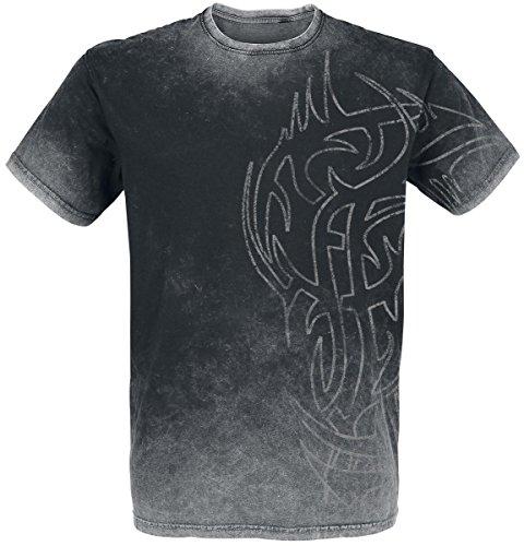 Outer Vision Ninja Tattoo T-Shirt nero/grigio XXL