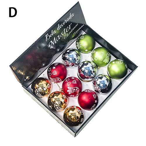 12 Stücke Weihnachtskugel-Verzierungen für die Christbaumschmuck-hängende Kugel (Blaue Kugeln Dekorationen)