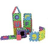 Miunana Alfombra Puzzle Rompecabezas Niños 3 años 36 piezas Numeros 0 al 9 y 26 Letras Alfabeto Espuma Mini