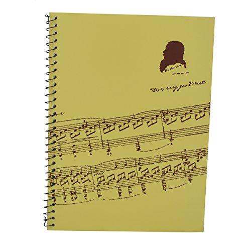 Punk Musik-Manuskript-Papier mit 40Seiten Musik leere Seiten Musik-Notizbuch Music Sheet White
