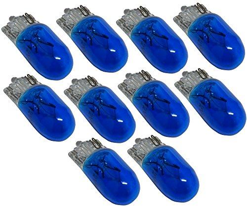 AERZETIX: Ampoules T10 W5W 12V bleu pour veilleuses plaque d'immatriculation plafonnier éclairage intérieur (10 pièces)