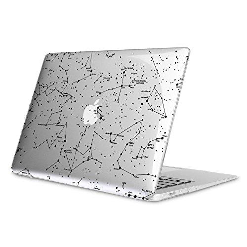 Fintie Hülle für MacBook Air 13 - Ultradünne Plastik Hartschale Schutzhülle Snap Case für Apple MacBook Air 13.3 Zoll (A1466/A1369), Constellation(Klar) - Pro 15 Macbook Holz-tastatur