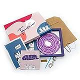 Taumur Paracord-Set für einfache Hundeleine - lila/rosa/hellblau/weiß