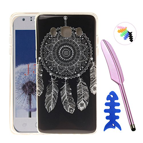 ANNN® Samsung Galaxy J510 J5 2016 Silicone Case TPU Cover - Etui de Protection Cas en caoutchouc en Ultra Slim Souple Gel TPU Bumper Cas Case + Quill stylet + Pendentif poisson---TX11 A09