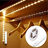LUXJET® 30LED 1M tira luz cuerda,Luz Armario Luz LED Nocturna con Sensor de Movimiento para Pasillo Baño...