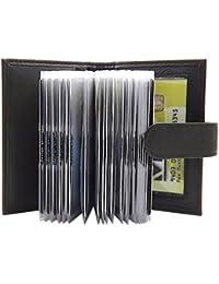 XXL cuero de ternero Caja de la tarjeta para un total de 22 tarjetas de credito MJ-Design-Germany en diferentes colores