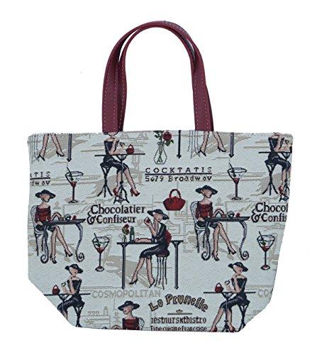 Shopper sac à bandoulière beacht cendres Sacoche Loisirs Sac Femme Café Paris Tapisserie Taille S Signare FA. bowatex