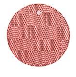 SEBAS Home Mat Honeycomb Silicone Green Meal Cup Mat Antideslizante Alta Temperatura Fácil de Limpiar Almohadilla de Aislamiento Gruesa Nórdica Rosa 18x18cm