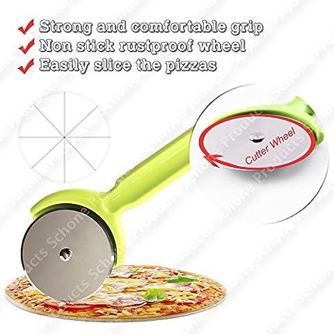 Pizza Cutter con antiaderente antiruggine–Ruota con manico
