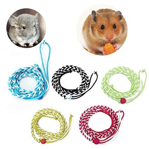 bar Frettchen Hamster Geschirr Pet Maus Baby Kaninchen Eichhörnchen Walking Seil ()