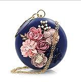 NBWE Damen Clutches Geldbörsen Floral Abendtasche Perlen Clutch Handtaschen