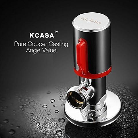 Paleo KCASA™ cromo ángulo de latón válvula de inodoro baño de lavado conmutador agua de la máquina
