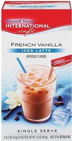 Maxwell House International Kaffee Vanilla Iced Latte Singles, 8,7 G, 8 Stück Box, Garten, Rasen, Maintenance