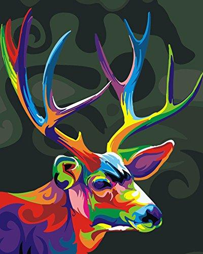 KXCFCYS DIY ölgemälde Malen nach Zahlen Neuerscheinungen Neuheiten - DIY Gemälde durch Zahlen, Malen nach Zahlen Kits digitales Ölgemälde (Mit Rahmen, Color-3)