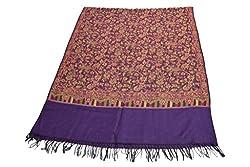Sofias Wool Blended Women Medium Shawl (70 cms x 200 cms) Purple(New)