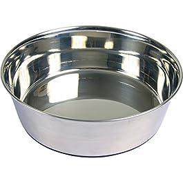 Trixie acciaio gomma pavimento Bowl