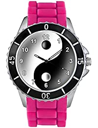 Timest - Tao Ying Yang - Reloj Unisex con Correa de Silicona rosa SE1355pi