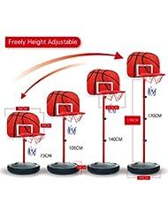 Soporte para canasta de baloncesto y aro, foxom Kids 73–170cm ajustable para interiores al aire libre portátil soporte para canasta de baloncesto aro Set