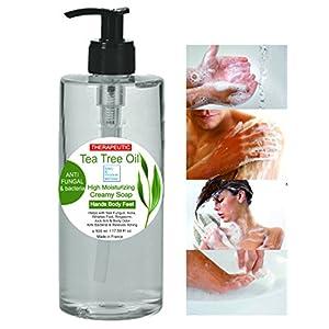 Gel desinfectante antibacteriano Jabón Ultra Hidratante Terapéutico con Aceite de Árbol de Té Purificante Anti hongos…
