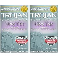 Trojan Kondom Empfindlichkeit Ultra Dünn spermizide 2Packungen von 12PC preisvergleich bei billige-tabletten.eu