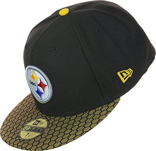 New Era 59Fifty Cap - NFL SIDELINE 2017 Pittsburgh Steelers ,7 5/8 - 61cm (XL),Schwarz (Pack-brown-t-shirts)