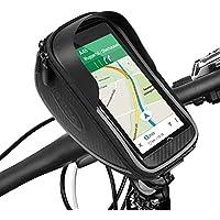ikalula Bolsa de Bicicleta Impermeable, Pantalla de PVC Transparente Táctil Desmontable Bolsa Delantero Manillar de Bicicleta adecuado con iPhone 8,7,7 Plus,6,6S Plus Teléfono Móvil de 5,5 Pulgadas
