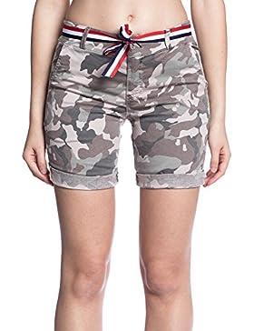Abbino 9034 Pantalones Camuflaje Cortos para Mujer - 2 Colores - Entretiempo Primavera Verano Otoño Invierno Casual...