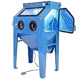 Sandstrahlkabine mit Absaugung Strahlkabine Sandstrahlgerät mit Absaugvorrichtung - 350 Liter