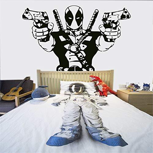 Wandtattoo Wohnzimmer Wandaufkleber Schlafzimmer Deadpool Marvel Superheld Action Hero Kinder Aufkleber Aufkleber Bild