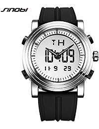 SJXIN Precioso y Elegante Reloj Pulsera. SINOBI / 9368 Reloj de los Hombres Correa de